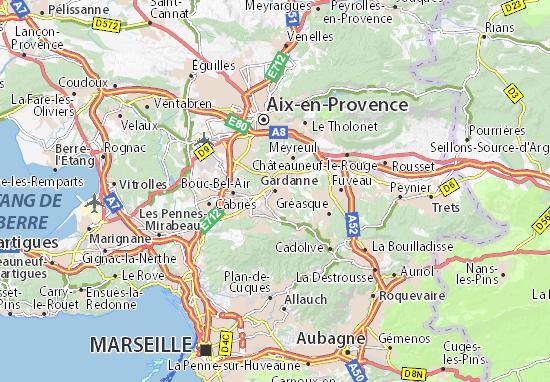 Karte Stadtplan Gardanne