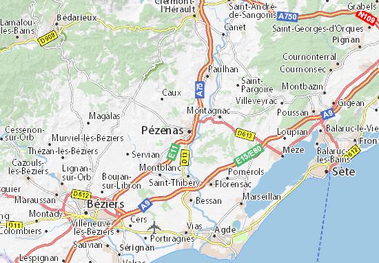 Mappe-Piantine Pézenas