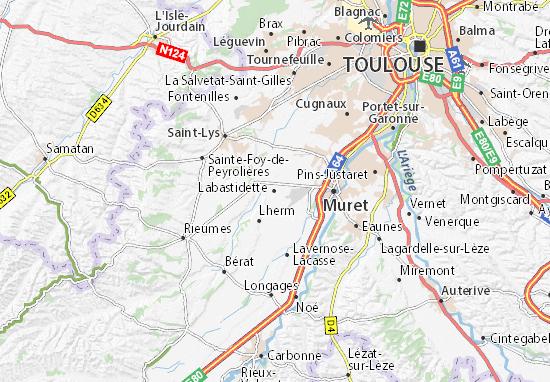 Carte-Plan Labastidette