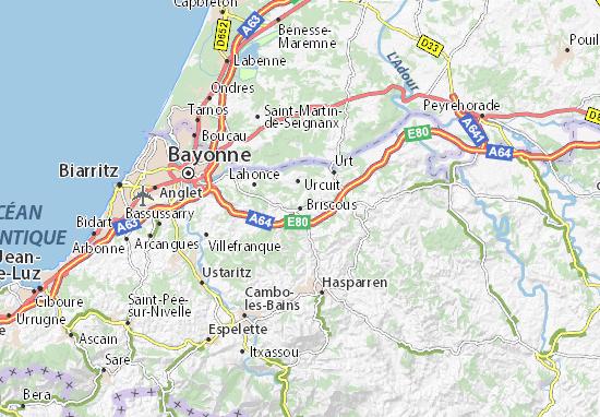 Kaart Plattegrond Briscous