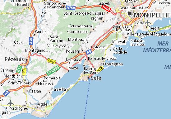 Mappe-Piantine Balaruc-le-Vieux