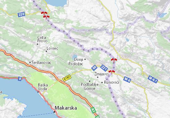 Mapa Plano Donji Proložac