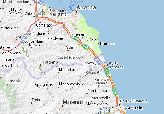 Carte-Plan Castelfidardo