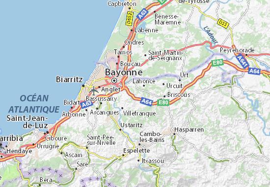 Kaart Plattegrond Mouguerre