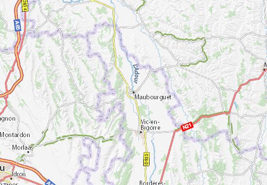 Maubourguet Map