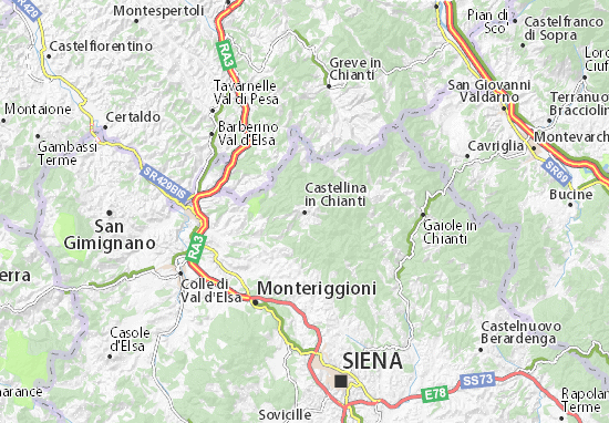 Cartina Toscana Siena.Michelin Castellina In Chianti Map Viamichelin