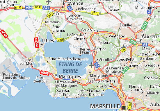 Kaart Plattegrond Berre-l'Étang