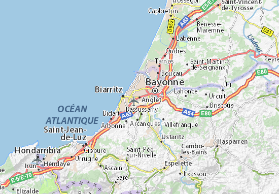Mappe-Piantine Anglet