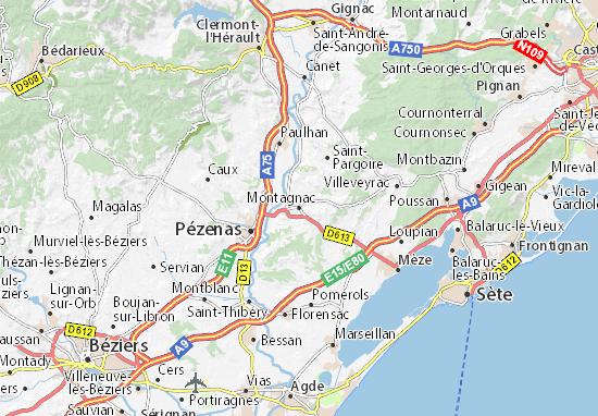 Carte-Plan Montagnac