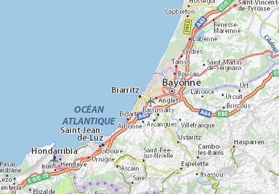 da829165e23 Carte détaillée Biarritz - plan Biarritz - ViaMichelin