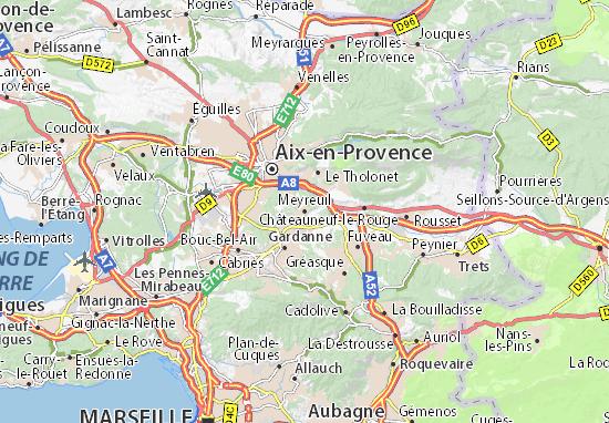 Karte Stadtplan Meyreuil