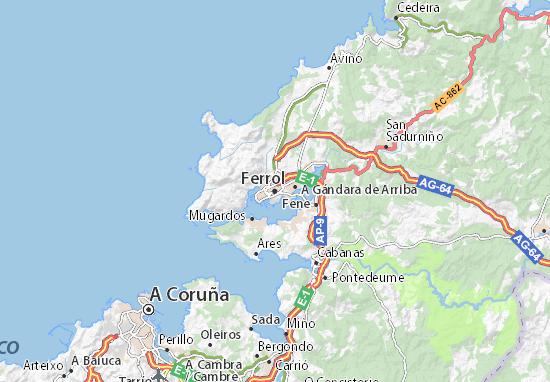 Mapas-Planos Ferrol