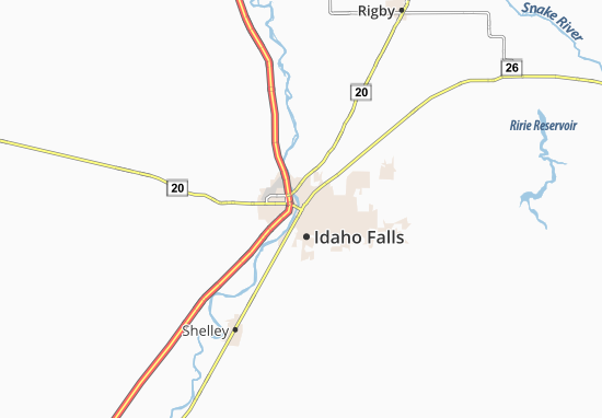 Idaho Falls Map