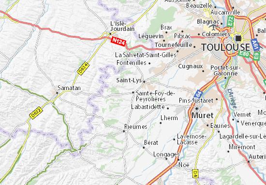 Carte-Plan Sainte-Foy-de-Peyrolières