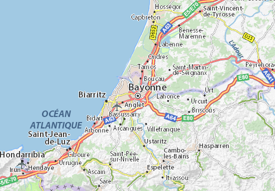 Carte-Plan Bayonne