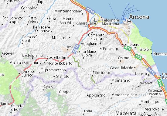 Carte-Plan Santa Maria Nuova