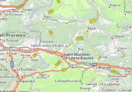 Kaart Plattegrond Seillons-Source-d'Argens