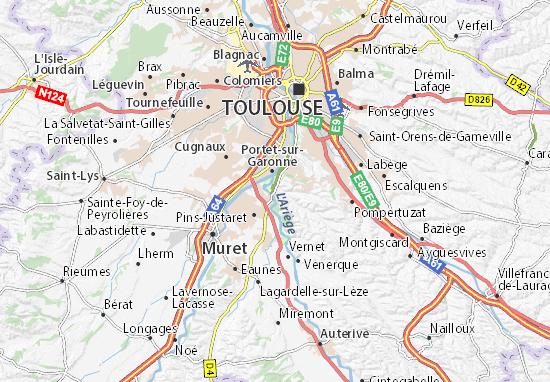 Karte Stadtplan Lacroix-Falgarde