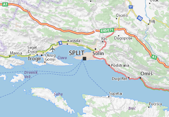 Karte Stadtplan Split