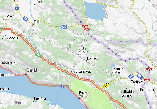 Kaart Plattegrond Cista Provo