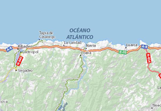 Coaña Map
