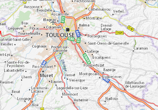 Castanet-Tolosan Map