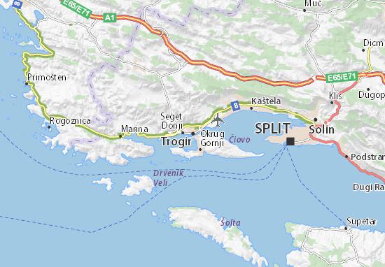 Kaart Plattegrond Trogir