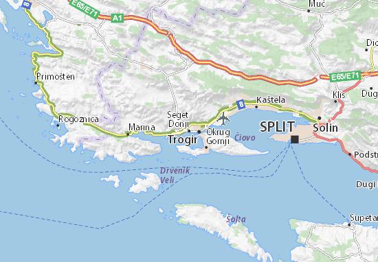 Kaart Plattegrond Seget Donji