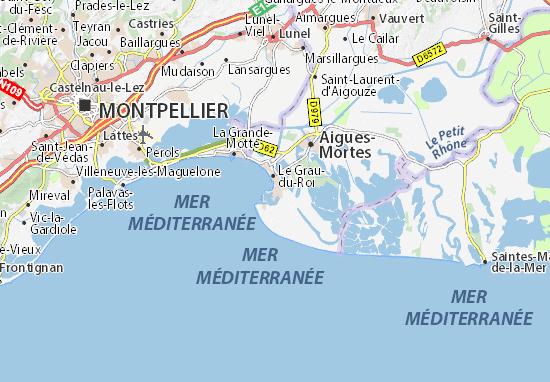 Carte d taill e port camargue plan port camargue - Meteo marine de cerbere a port camargue ...