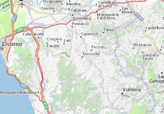 Terricciola Map