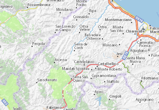 Carte-Plan Montecarotto