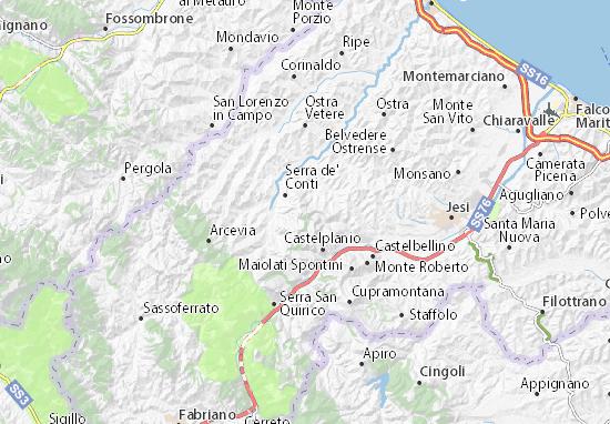 Montecarotto Map