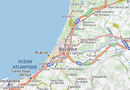Mapa Plano Boucau