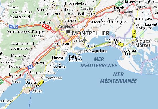 Karte Stadtplan Palavas-les-Flots