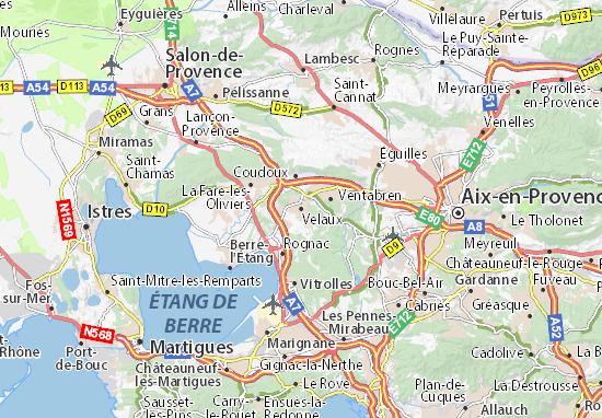 Kaart Plattegrond Velaux