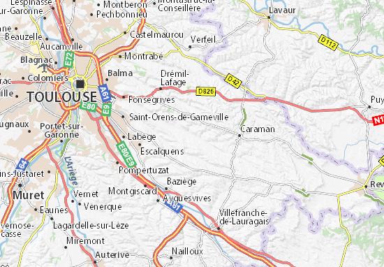 Kaart Plattegrond Fontenilles