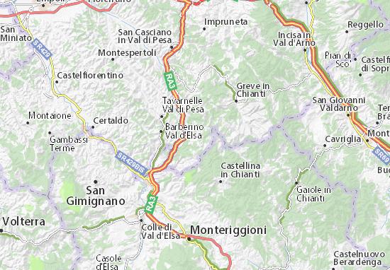 San Donato in Poggio Map