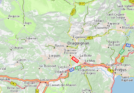 Carte-Plan Draguignan