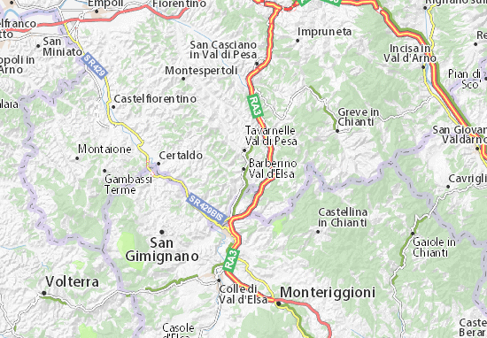 Barberino Val d'Elsa Map