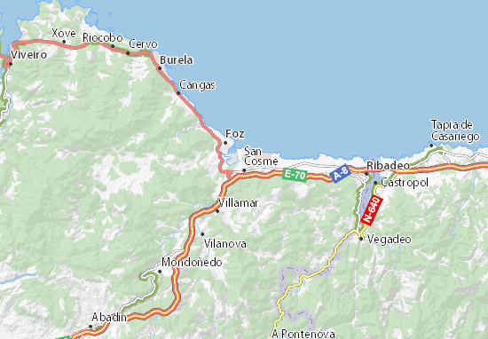 San Cosme Map