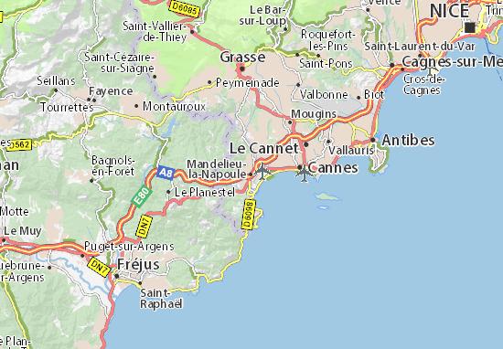 Mapa Plano Mandelieu-la-Napoule