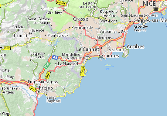 Karte Stadtplan Mandelieu-la-Napoule