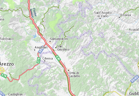 Anghiari Italy Map.Detailed Map Of Uselle Uselle Map Viamichelin