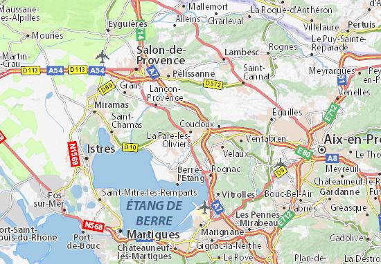 Kaart Plattegrond La Fare-les-Oliviers
