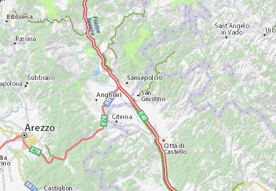 Carte-Plan San Giustino