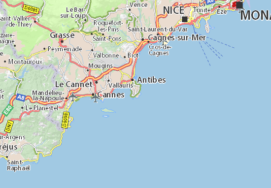map of cap d 39 antibes michelin cap d 39 antibes map. Black Bedroom Furniture Sets. Home Design Ideas