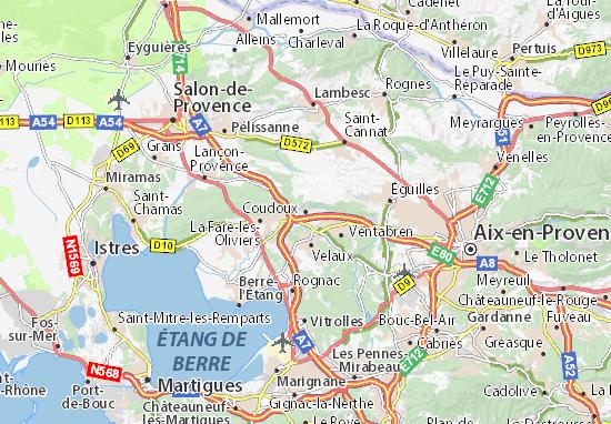 Karte Stadtplan Coudoux