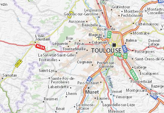 Karte Stadtplan Plaisance-du-Touch