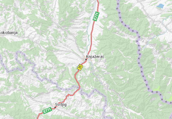 Knjaževac Map