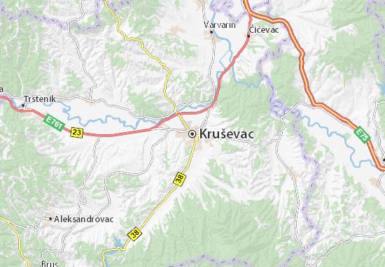 krusevac mapa Map of Kruševac   Michelin Kruševac map   ViaMichelin krusevac mapa
